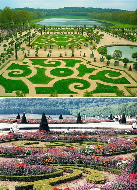 nejkrásnější zahrada Versailles Francie