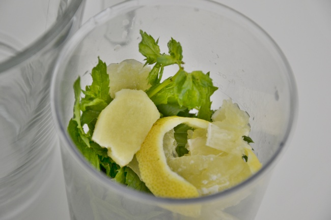 před mixováním priprava matove limonady