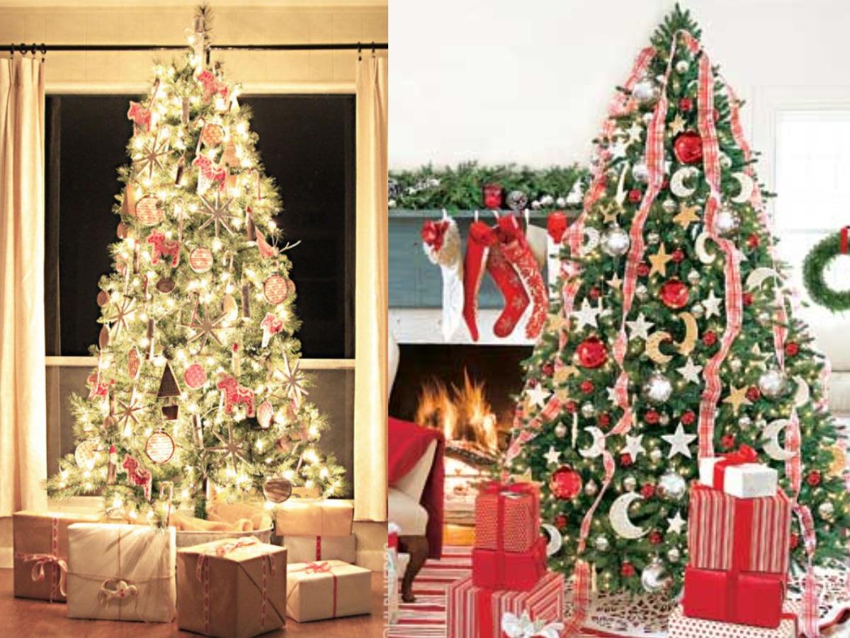 17 tipů na výzdobu vánočního stromečku