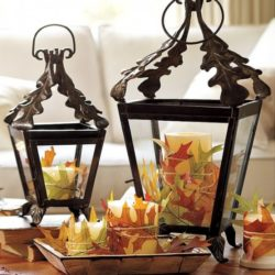 PODZIMNÍ DEKORACE: aranžujeme lucerny a svícny