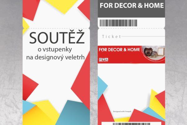 Soutěž o vstupenky na jarní veletrh dekorací FOR DECOR & HOME 2017