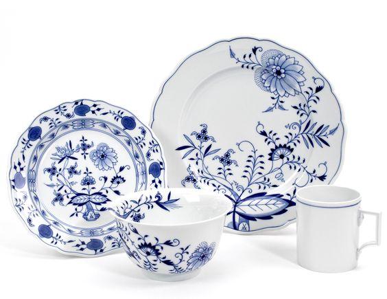 cibulákový vzor, nádobí