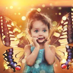 dítě s motýlími křídly, podzim