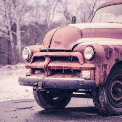 nákladní auto, sníh