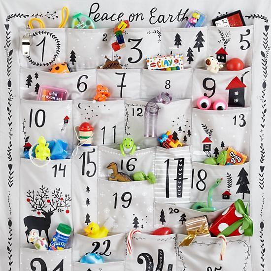 látkový adventní kalendář
