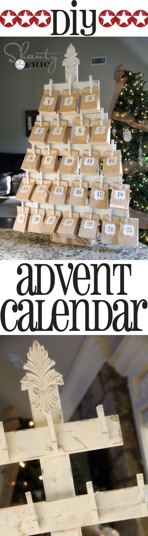 adventní kalendář z papírových sáčků
