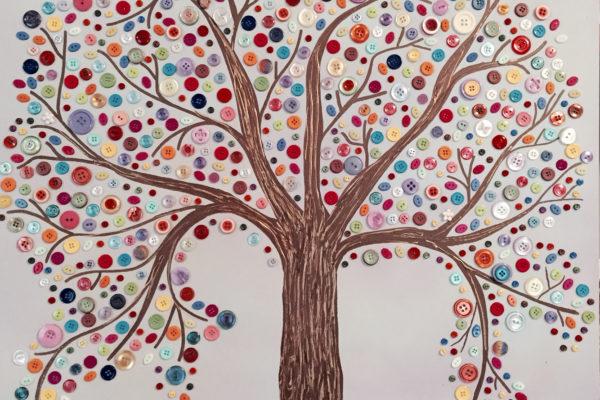 DIY: knoflíkový strom, který zvládnou i děti
