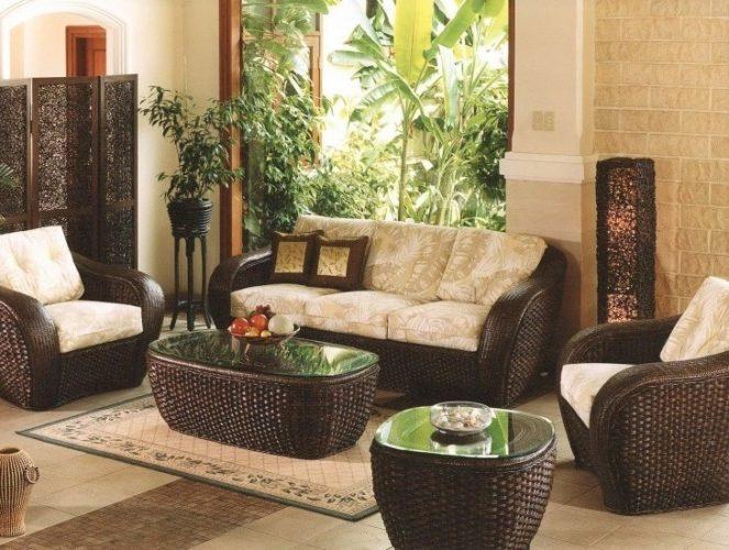 Ratanový nábytek v interiéru
