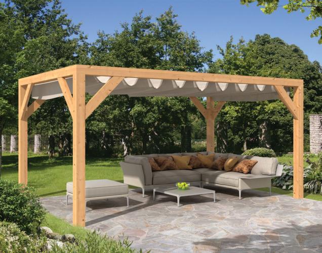Pergola na zahradě je skvělé místo pro letní relax a večerní grilování